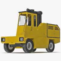loading forklift truck yellow max