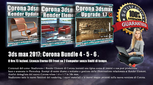 Corona in 3dsmax 2017 Bundle Vol 4 - 5 - 6 - Cd Front