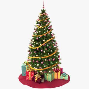 3d model christmas tree v5