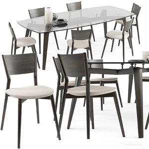 max bertha chair gramercy table