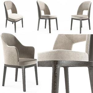 3d model chairs judit flexform