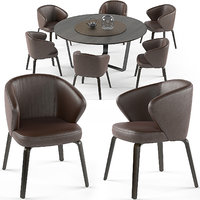 mudi armchair pero table set max