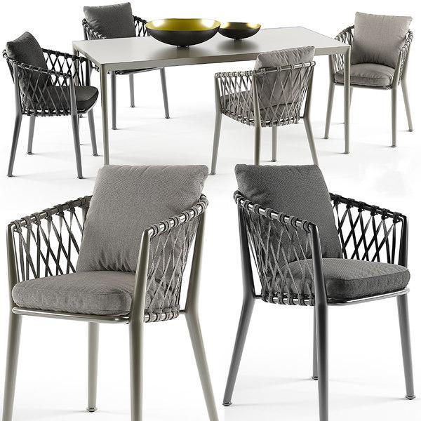 erica chairs set b italia max