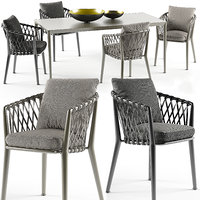 erica chairs set b italia max