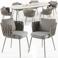 tosca table armchair set 3d model