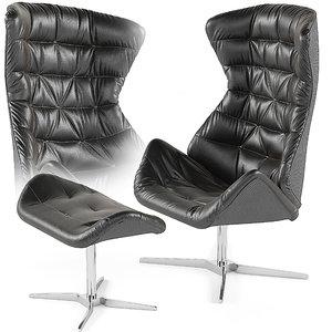 3d thonet 808 armchair footstool