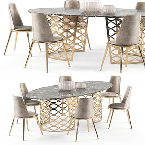 3d isidoro table aurora chair model