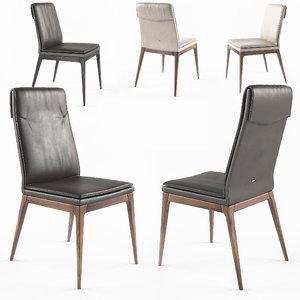 3d max cattelan sofia chairs
