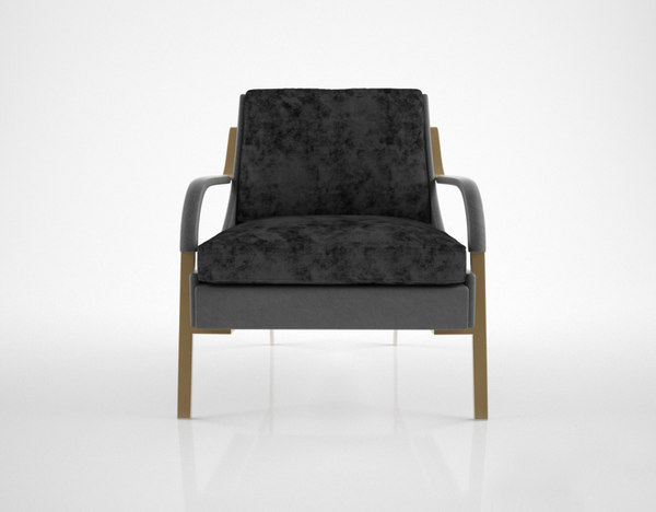 holly hunt harlow lounge chair 3d model