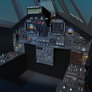 cockpit display 3d model