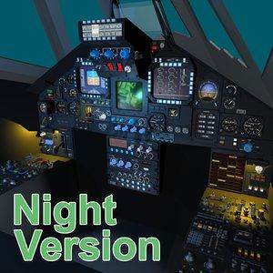 3d cockpit version display model