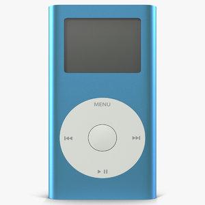ipod mini blue modeled 3d max
