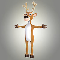 cartoon deer 7 biped