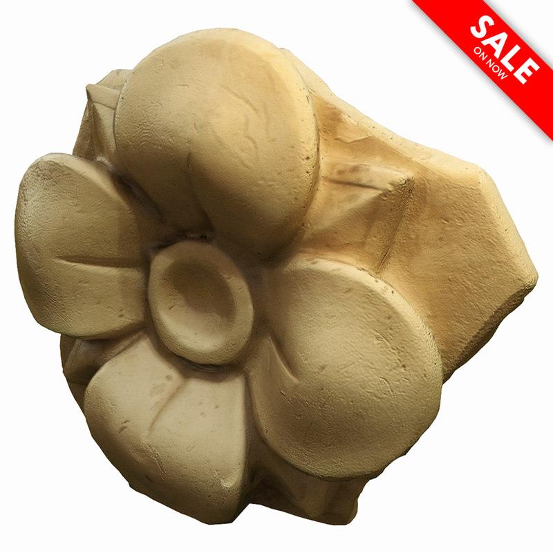 ancient rosette 3d max