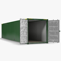 40 ft ISO Container Green 3D Model