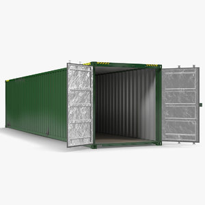 3d 40 ft iso container