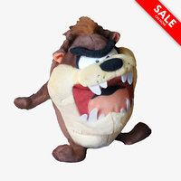 looney tasmanian devil toy 3d max