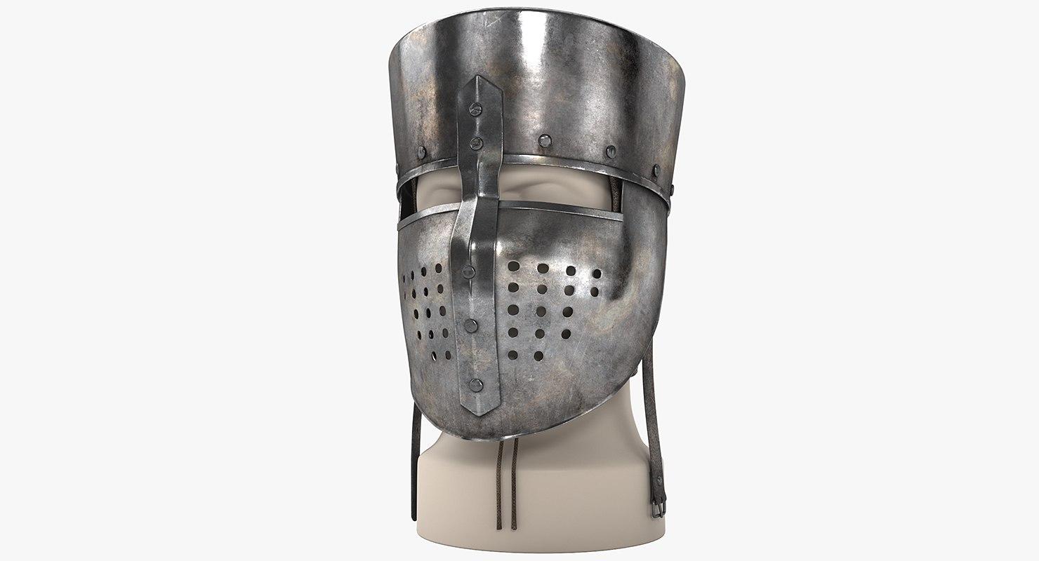medieval helmet 3d model