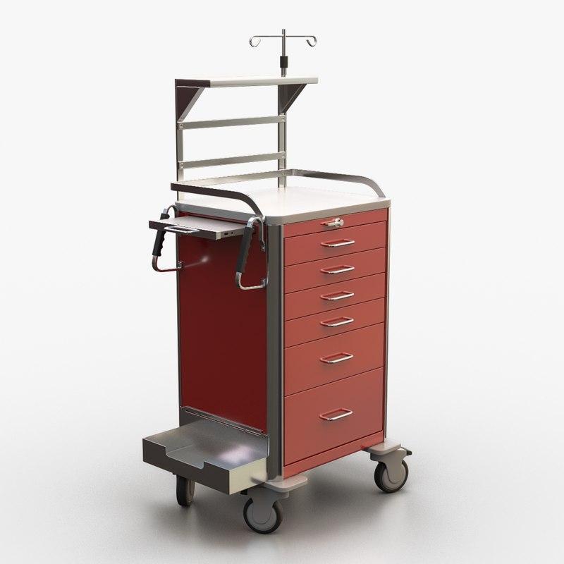 3d medical crash cart