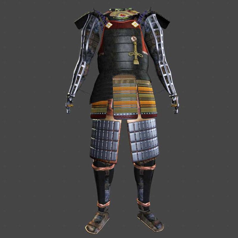 3d ornate samurai armor
