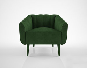 3d model munna houston armchair