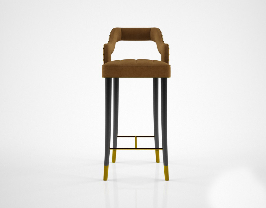 3d ottiu kelly bar chair model