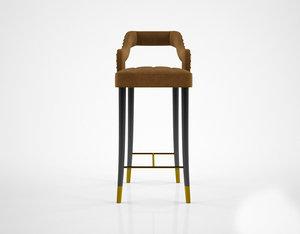3d ottiu kelly bar chair model