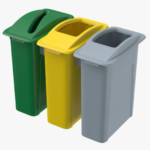 3D trashcans 01