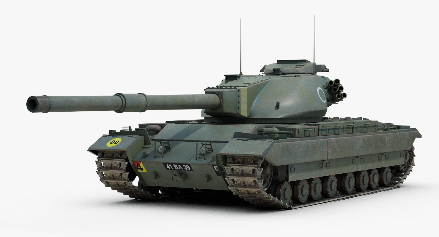 3d post conqueror heavy tank model