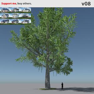 free tree oak v8 3d model