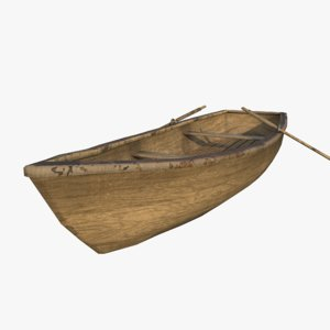 sailboat canoe obj