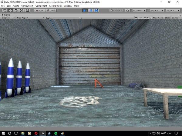 military hangar plane 3D