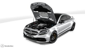 mercedes c63 amg coupe 3d max