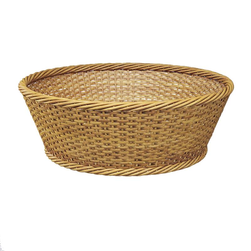 3d wicker basket