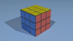 Rubic cube low poly game ready