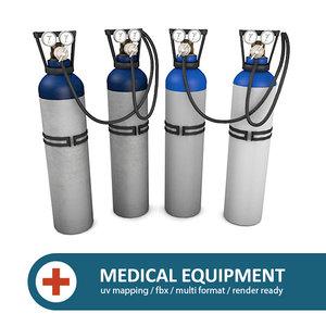 oxygen tanks 3d 3ds