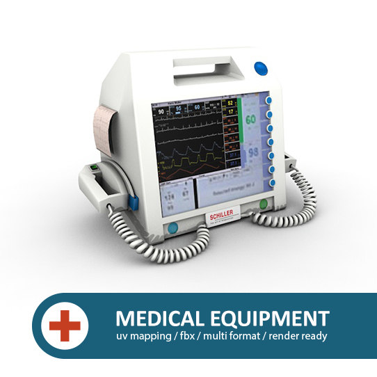 3d model of clinical defibrillator