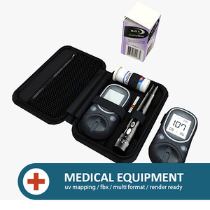 medical equipment meter glucose 3d model