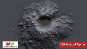 230 Asteroid Alphas Brush Zbrush