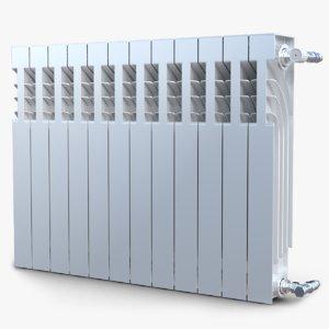 3d model modern radiator