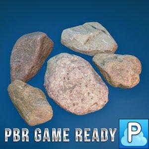 desert stones 3d model