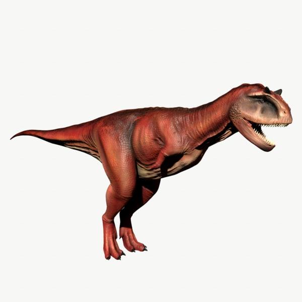 3d carnotaurus t-rex