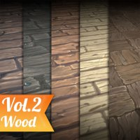 Texture Set Vol.02 Hand Painted Wood (Stylized Texture Wood)