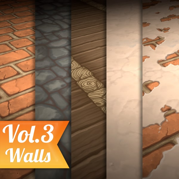 Texture Set Vol.03 Hand Painted Walls
