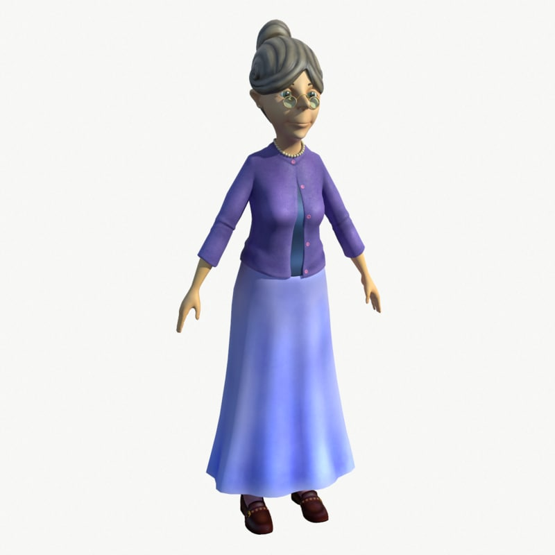 3d model sweet grandma