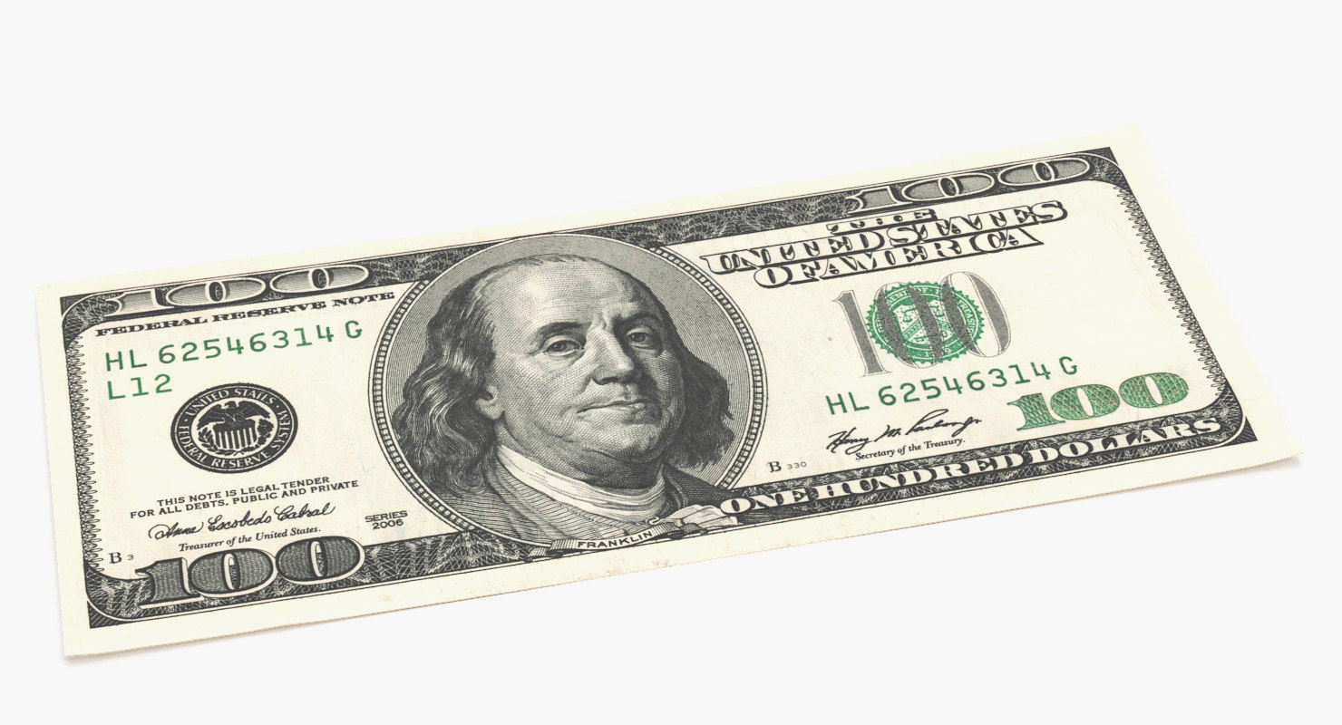One Hundred Dollar Bill 3D Models for Download | TurboSquid