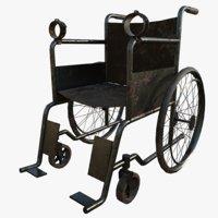 3d chair pbr modeled