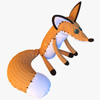 little prince fox 3d model