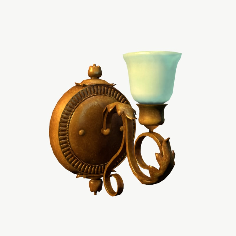 decorative antique wall lamp 3d model