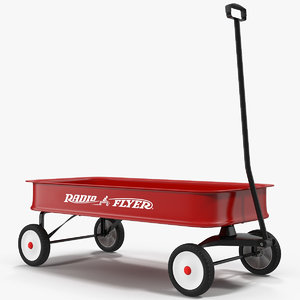 3d childs wagon 2 modeled model